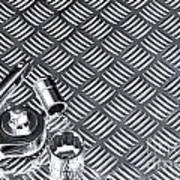 Mechanical Socket Background Art Print