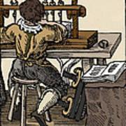 Mediaeval Book Manufacture Art Print