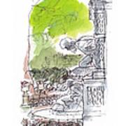 Medici Grotto Paris Art Print