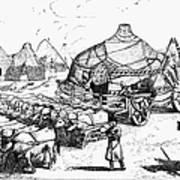 Medieval Tartar Huts Art Print