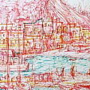 Mediterranean Bay Art Print