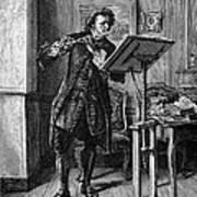 Meissonier: Flute Player Art Print