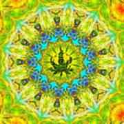Mellow Yellow Mandala Art Print