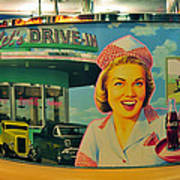 Mels Drive In Art Print by David Lee Thompson
