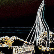 Melting Bridge Art Print by David Alvarez