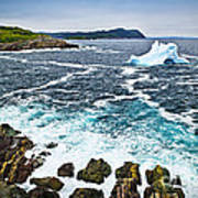 Melting Iceberg In Newfoundland Art Print by Elena Elisseeva