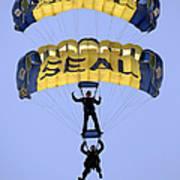 Members Of The U.s. Navy Parachute Art Print