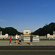 Memorial Plaza Of The World War II Print by Richard Nowitz