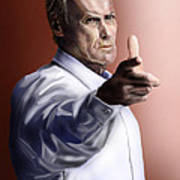 Men Must Know Their Limitations-clint Eastwood Art Print by Reggie Duffie