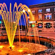 Menasha Lighted Fountain Art Print