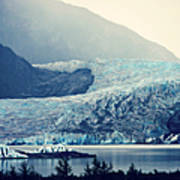 Mendenhall Glacier On A Foggy Morning Art Print
