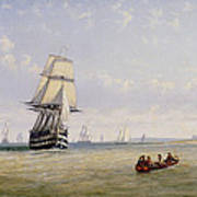 Meno War Schooners And Royal Navy Yachts Art Print