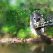 Menomonee River Footbridge  Art Print