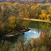 Meramec River Bend At Castlewood State Park Art Print
