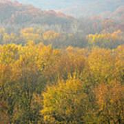 Meramec River Valley Autumn At Castlewood State Park In Missouri Art Print
