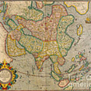 Mercators Map Of Asia Art Print