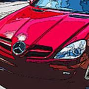 Mercedes Benz Slk Nose Study Art Print by Samuel Sheats
