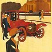 Mercedes Daimler Art Print