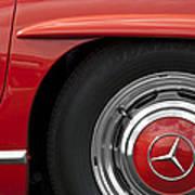Mercedes Wheel Art Print