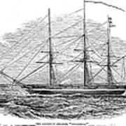 Merchant Steamship, 1844 Art Print