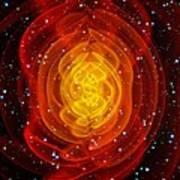 Merged Black Holes Art Print