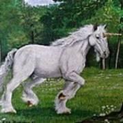 Merlin's Unicorn Art Print
