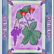 Merlot Fine Wines Orchard Box Label Art Print
