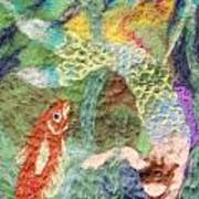 Mermaid And Fish Print by Nicole Besack