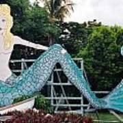 Mermaid Billboard Art Print