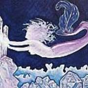Mermaid Pink Art Print
