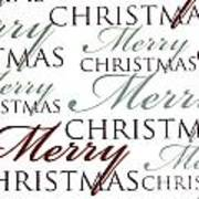 Merry Christmas Words Art Print