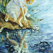 Message In The Water Art Print by Catherine Foster