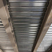 Metal Decking Over Structural Steel Art Print