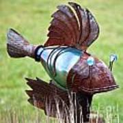 Metal Fish Art Print