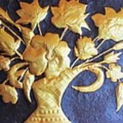 Metal Flowers Art Print