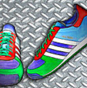 Metal Grate Sport Shoe Art Print