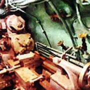 Metal Lathe In Submarine Art Print