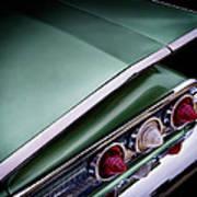 Metalic Green Impala Wing Vingage 1960 Art Print by Douglas Pittman