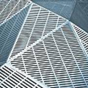 Metallic Frames Art Print