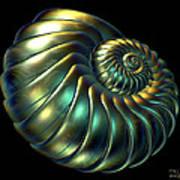 Metallic Nautiloid Art Print