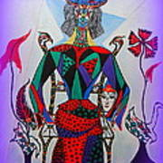 Metamorphosis Of Eleonore Into A Snake. Art Print