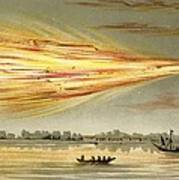 Meteorite Explosion, Historical Artwork Art Print