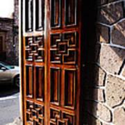 Mexican Door 42 Art Print