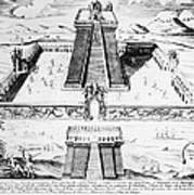 Mexico: Aztec Temple, 1765 Art Print