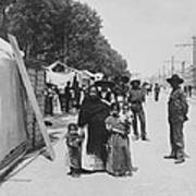 Mexico City - Alameda During Holy Week - C 1906 Art Print