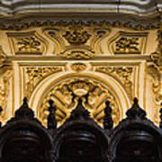 Mezquita Cathedral Choir Stalls Details Art Print