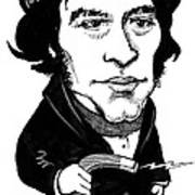 Michael Faraday, Caricature Art Print by Gary Brown