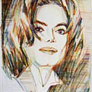 Michael Jackson - Indigo Child  Art Print by Hitomi Osanai