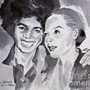Michael Jackson - Wtih Diana Art Print by Hitomi Osanai