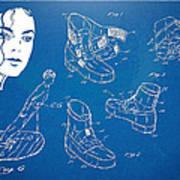 Michael Jackson Anti-gravity Shoe Patent Artwork Art Print by Nikki Marie Smith
